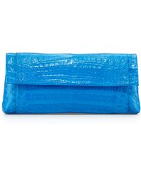 Nancy Gonzalez Back-Pocket Crocodile Clutch Bag - Lyst