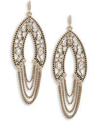 ABS By Allen Schwartz - Goldtone Crystal Swing Earrings - Lyst
