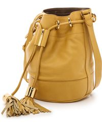 See By Chloé Vicki Small Bucket Bag with Cross Body Strap  Bamboo - Lyst