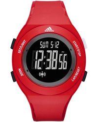 adidas Originals - Digital Red Polyurethane Strap Watch - Lyst