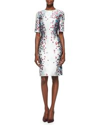 St. John Venetian Glass Print Mikado Dress - Lyst