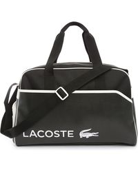 Lacoste Black Two Fabric Duffle Bag - Lyst