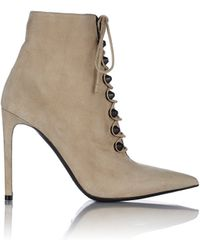 Balenciaga Studded Side-Zip Ankle Booties - Lyst