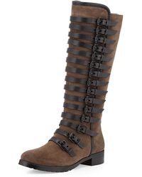 Luxury Rebel - Leigh Burnished Suede Tall Boot - Lyst