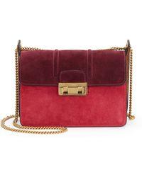 Lanvin | Jiji Mini Suede Chain Shoulder Bag | Lyst