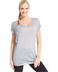 Calvin Klein Performance V-Neck Burnout Tee - Lyst