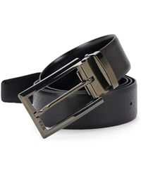 Tumi - Perforated Reversible Leather Belt - Lyst