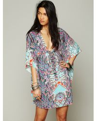 Free People Dream Sequence Printed Poncho - Lyst