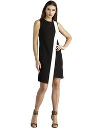 Donna Morgan Asymmetrical Colorblock Sheath Dress - Lyst