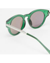 Trip - Round Sunglasses With Mirror Lens - Lyst
