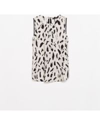 Zara Combination Printed Top - Lyst