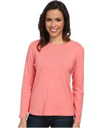 Pendleton Ls Jewel Neck Cotton Rib Tee - Lyst