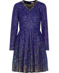 Matthew Williamson Embroidered Gauze Dress - Lyst