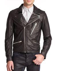 The Kooples Lambskin Leather Jacket - Lyst