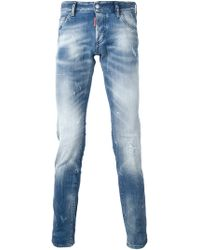 DSquared2 Blue Slim Jean - Lyst
