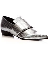 Rodarte Metallic Embossed Leather Pointedtoe Flats - Lyst
