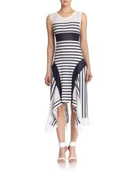 Jean Paul Gaultier Mixed-Stripe Tank Dress - Lyst