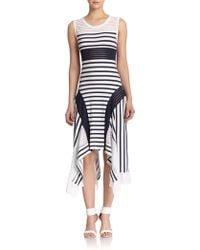 Jean Paul Gaultier Mixed-Stripe Tank Dress blue - Lyst