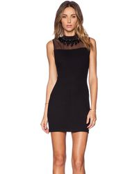 Needle & Thread Black Jet Dress - Lyst