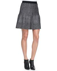 Rebecca Taylor Metallic Pleated Skirt - Lyst
