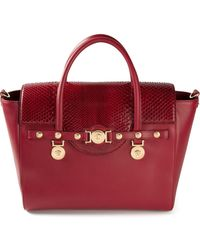 Versace Signature Mixed Python Tote - Lyst