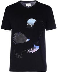 Maison Margiela Eagle-Print T-Shirt black - Lyst