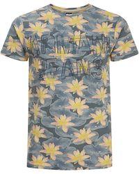 Armani Jeans Floral Logo T-Shirt - Lyst