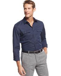 Calvin Klein Double-pocket Poplin Shirt - Lyst
