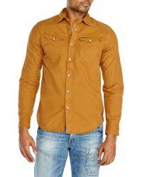 G-star Raw Denim Long Sleeve Shirt - Lyst