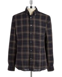 John Varvatos Roll Tab Sleeved Sport Shirt - Lyst