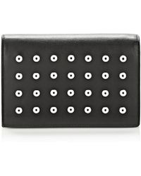 Alexander Wang Prisma Double Biker Purse In Black With Eyelets And Rhodium - Lyst