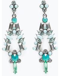 Zara Blue Jewel Earrings - Lyst