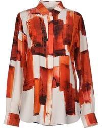 Celine Orange Shirt - Lyst