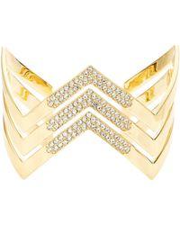 Lauren by Ralph Lauren - Chevron Open Cuff Bracelet - Lyst
