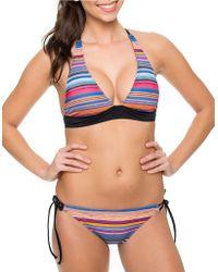 Oakley | Pacific Stripe Halter Bikini Top | Lyst