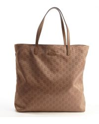 Gucci Nylon Top Handle Shopping Tote - Lyst