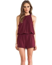 Elizabeth And James Red Lisa Romper - Lyst