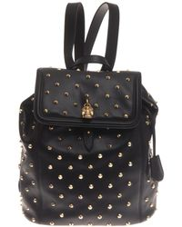 Alexander McQueen Padlock Studded Leather Backpack - Lyst