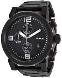 Nixon Men'S Ride Chrono Black Ip Stainless Steel And Dial - Lyst