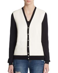 DSquared² Leather-Front Cardigan - Lyst