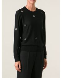 Sonia Rykiel Embellished Dotted Sweater - Lyst