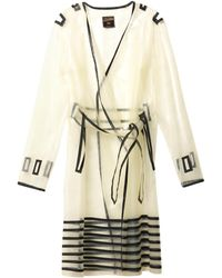 Jean Paul Gaultier - Transparent Stripedetail Coat - Lyst
