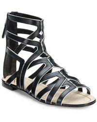 B Brian Atwood Alcarra Leather Strappy Sandals - Lyst