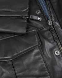 Ted Baker Leather Jacket - Lyst