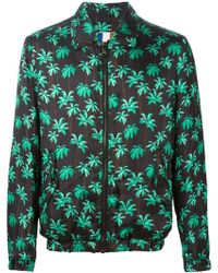 MSGM Palm Tree Print Jacket - Lyst