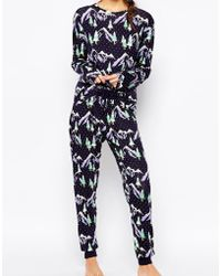 Chelsea Peers - Holidays Snowy Mountain Pajama Gift Set - Lyst