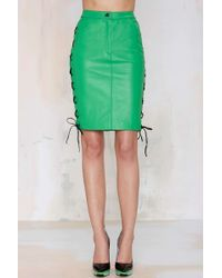 Nasty Gal American Retro Leon Leather Skirt - Lyst