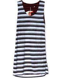 Harvey Faircloth Stripe Mini Dress - Lyst