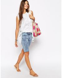 Bellfield - Long Denim Shorts - Lyst