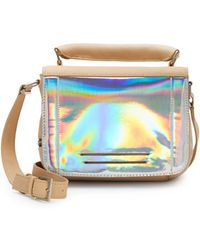Kelsi Dagger Holographic Leather-Trim Crossbody - Lyst